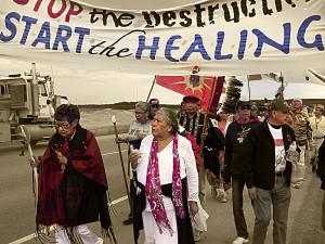 Amy George & Elders at the Healing Walk