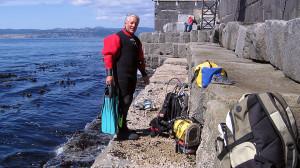 Sarama diving at Ogden Point